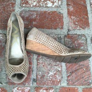 Ann Klein Sport Nude Wedge Sandals
